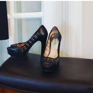 Michael Kors Black w/Silver studs Heels 6M. OBO